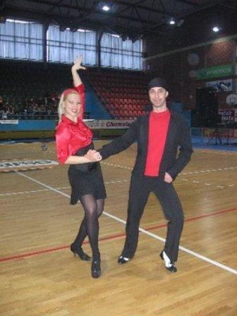 Winning couple in Osijek